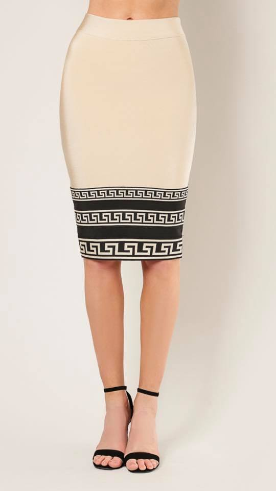 BANDAGE HIGH WAISTED SKIRT
