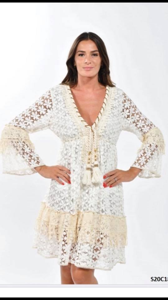 Lace crochet boho dress