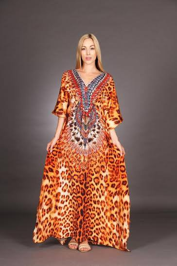 LONG JEWELED KAFTAN