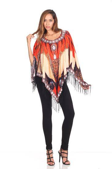 GORGEOUS JEWELED PONCHO