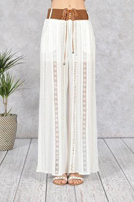 PALAZZO EMBROIDERED PANTS