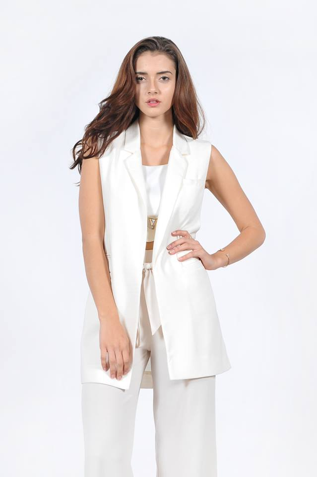 LONG LINE BOYFRIEND SLEEVELESS BLAZER