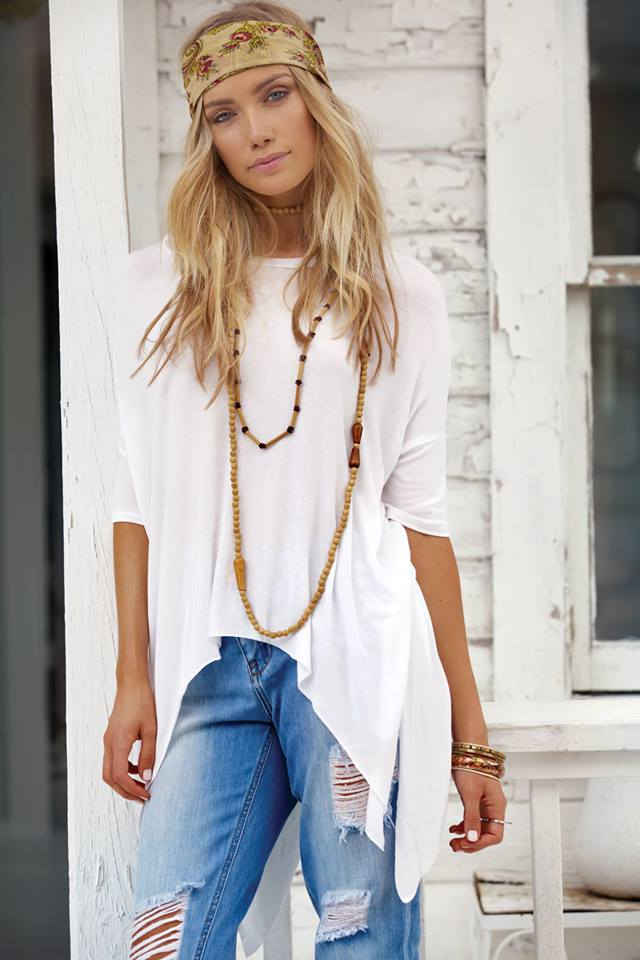WOVEN TUNIC IN WHITE