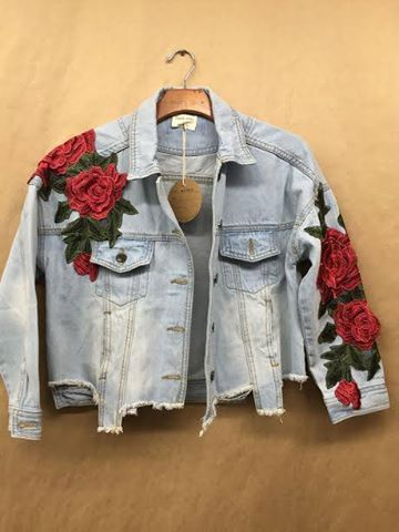 DENIM PATCHED JACKET