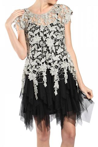 TULLE DRESS WITH SHORT SLV