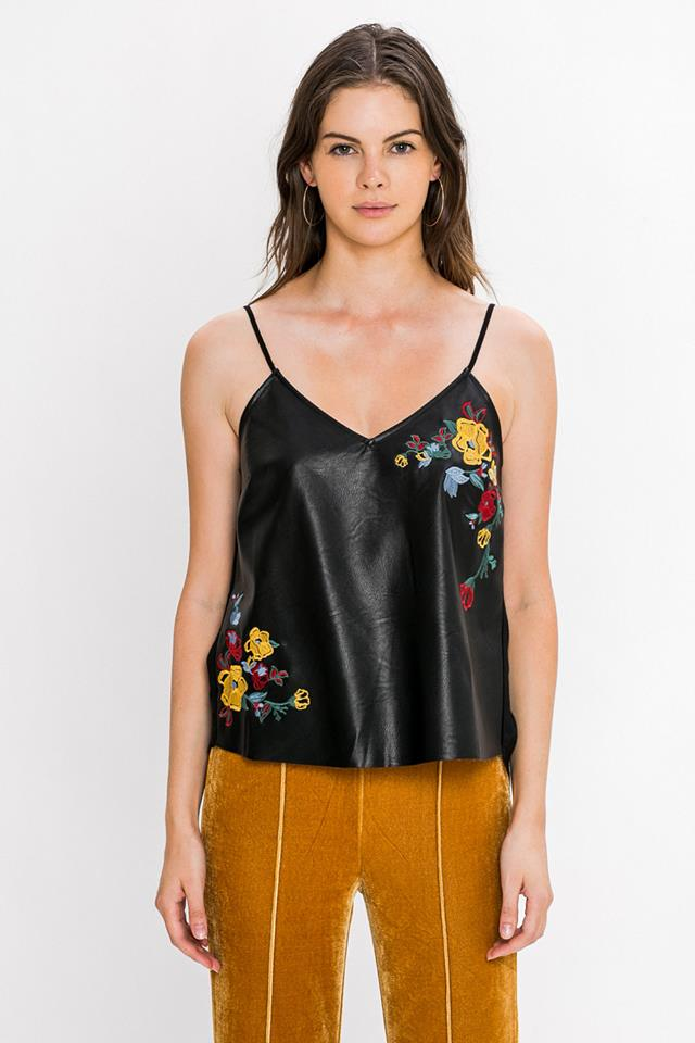 VEGAN LEATHER TANK