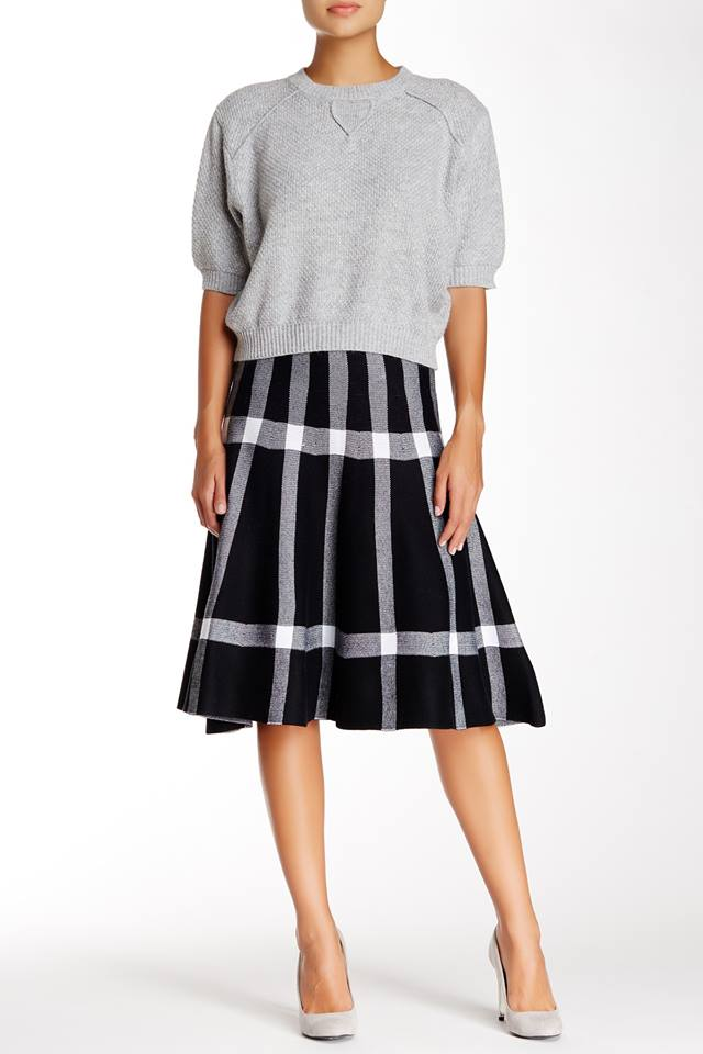 CHECKERED FLARE SKIRT