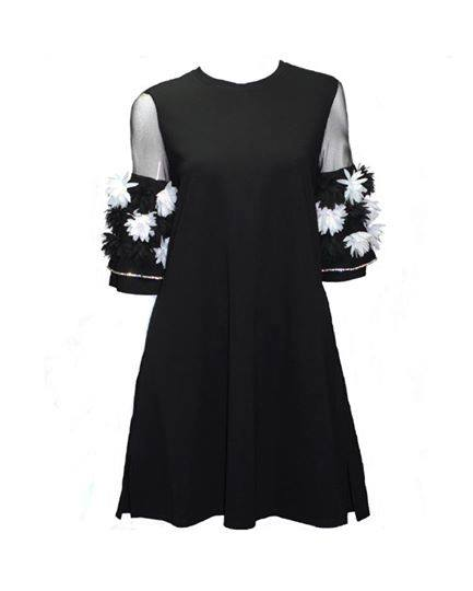 KNEE LENGTH FLOWER DRESS