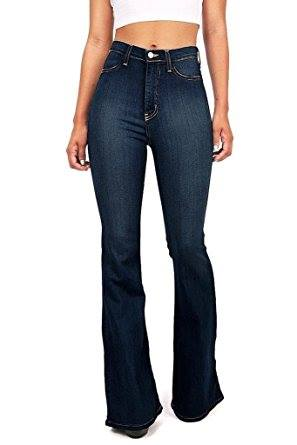 BELL BOTTOM HIGH FITTED JEANS