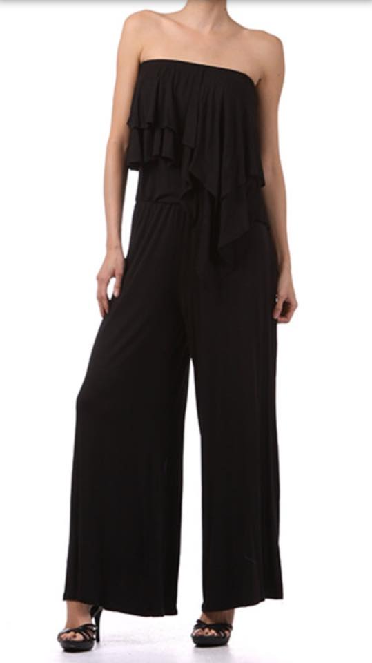 RUFFLE TUBE JUMPSUIT