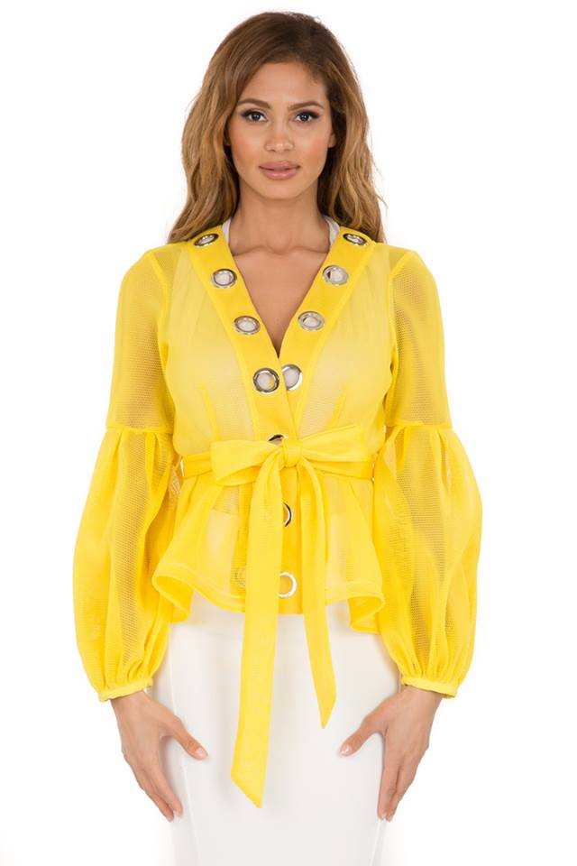 HONEYCOMB PEPLUM JACKET