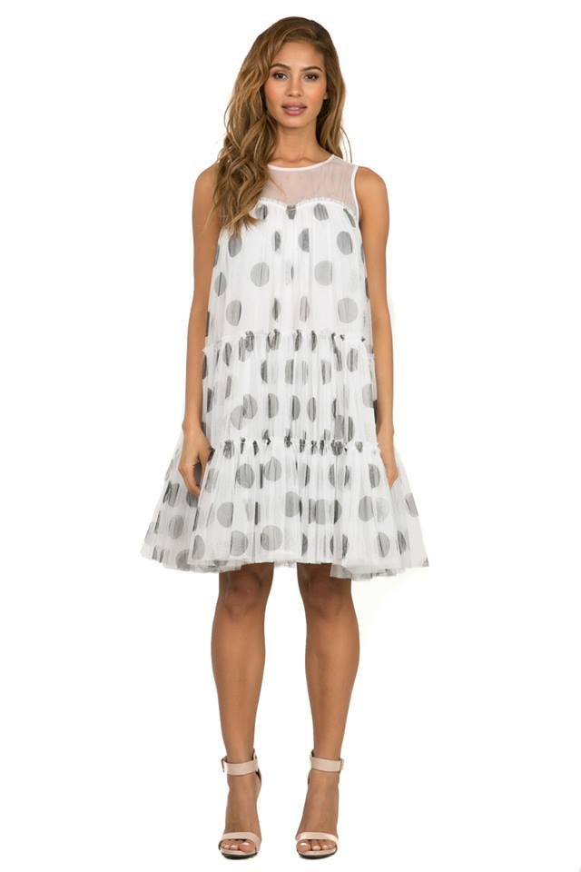 POLKA DOT BABY DOLL DRESS