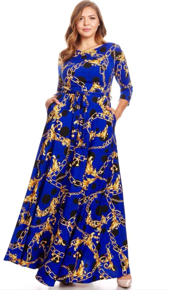 ROYAL BLUE PRINT MAXI