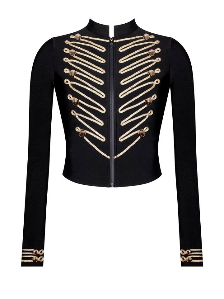 GOLD DETAILED BLACK JACKET