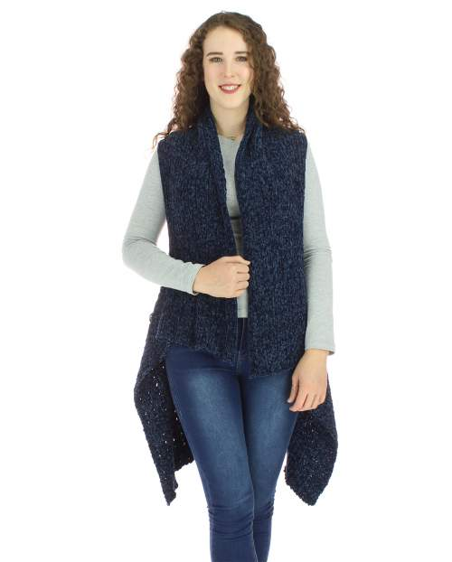 SLEEVELESS CHENILLE VEST