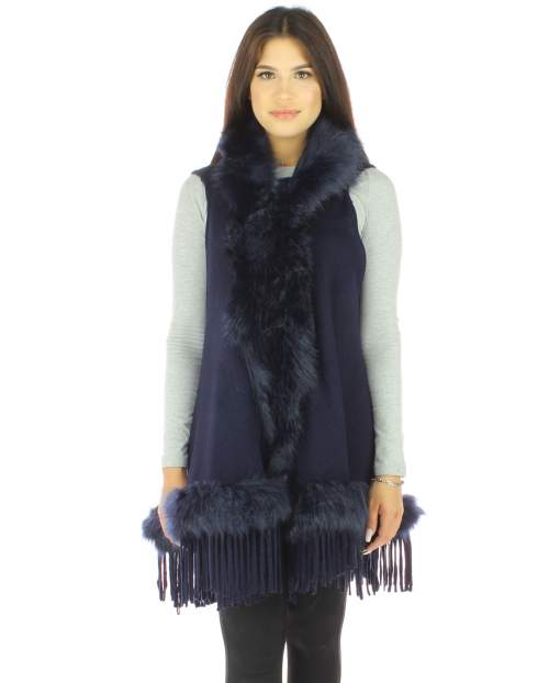 FAUX FUR SLEEVELESS VEST