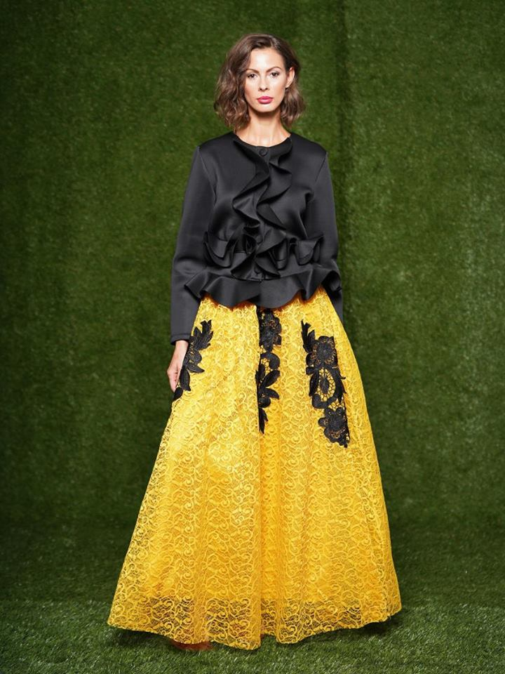 A LINE DESIGN LONG SKIRT
