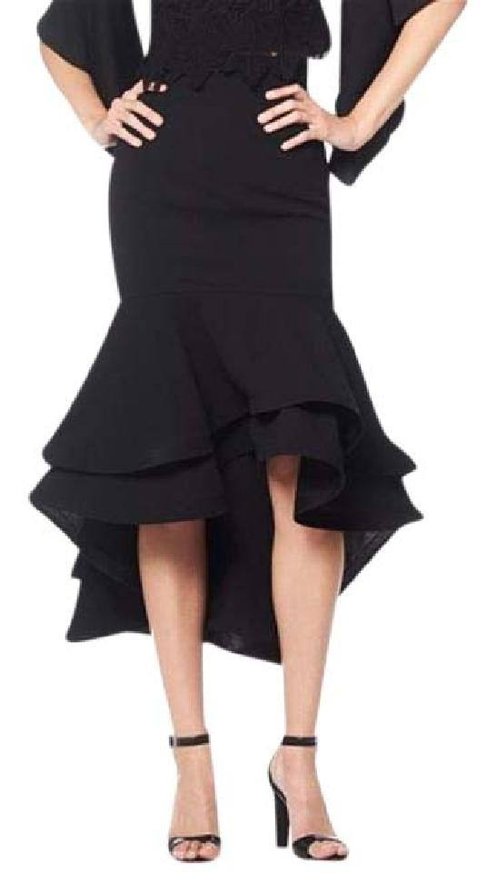 OVERLAPPED RUFFLE SKIRT