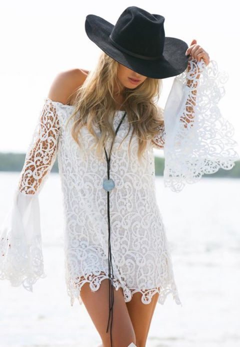 LILIAN CROCHET DRESS
