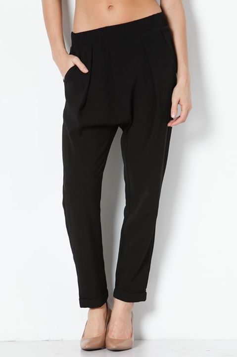ELASTIC BANDED WOVEN TROUSERS
