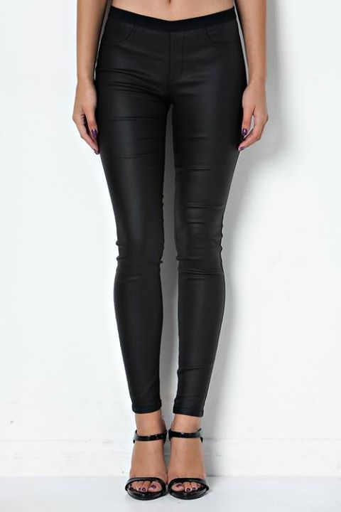 FAUX LEATHE4R JEGGINGS